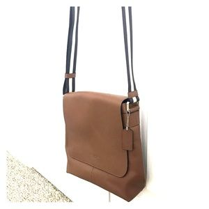 Leather Coach crossbody bag